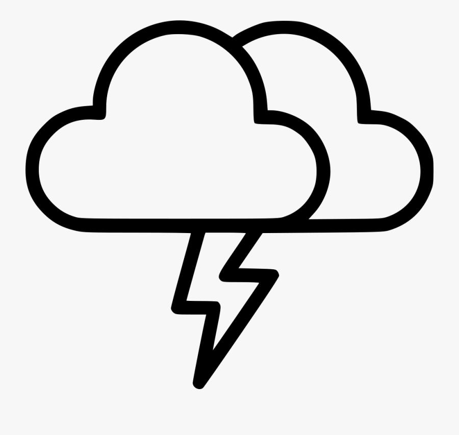 Thunder Cloud Png - Thundercloud Symbol, Transparent Clipart