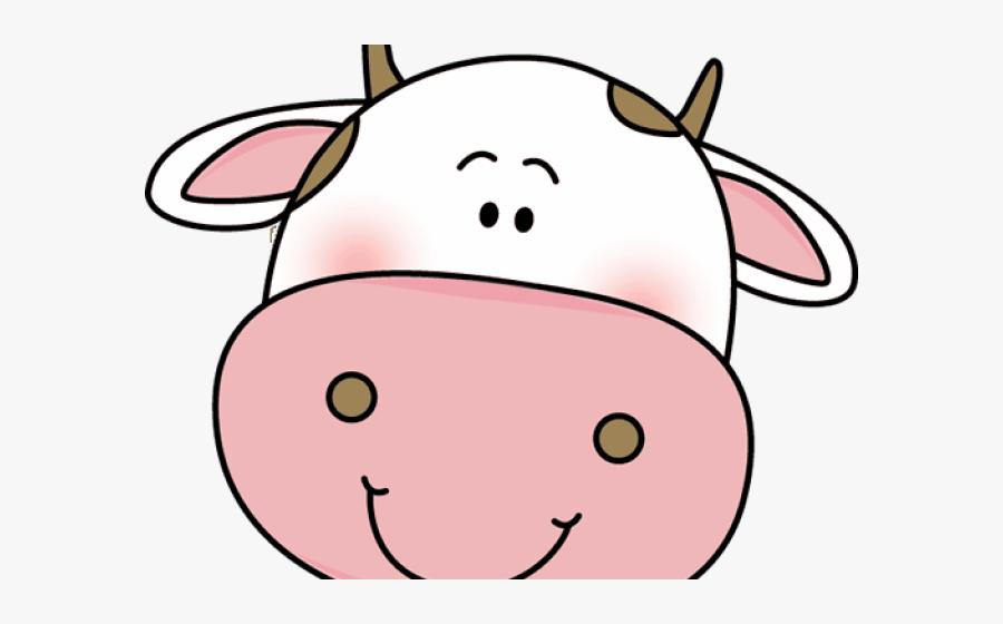 Transparent Cow Face Png - Cute Cow Head Clipart, Transparent Clipart