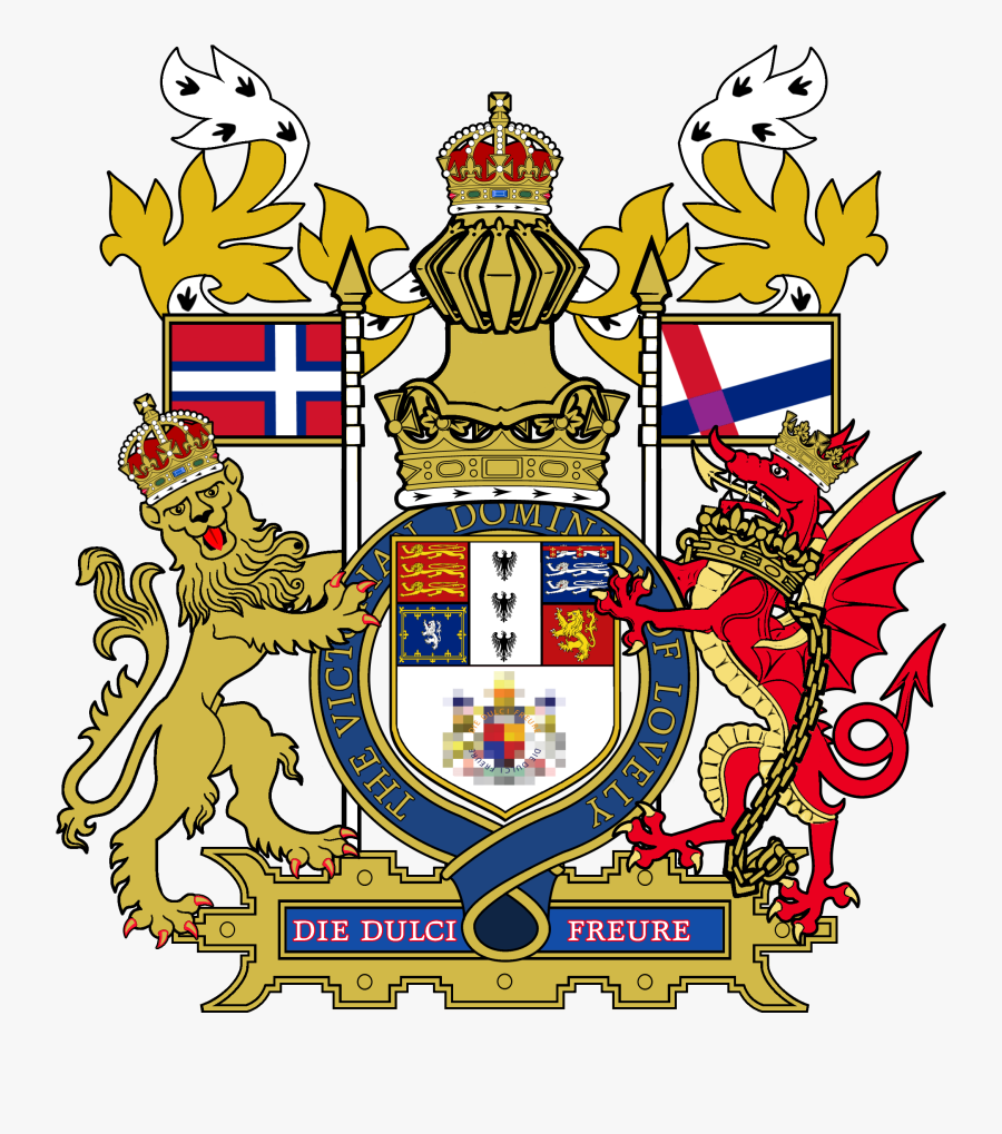 Hd Royal As Used - Royal Coat Of Arms Template, Transparent Clipart