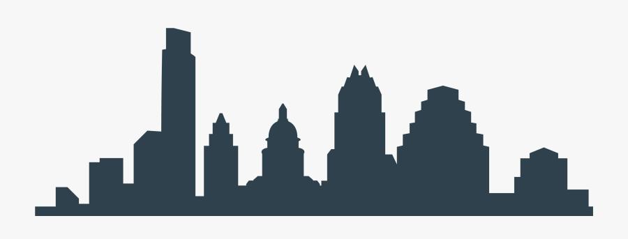 Austin Skyline Silhouette Png - Outline Of Austin Skyline, Transparent Clipart