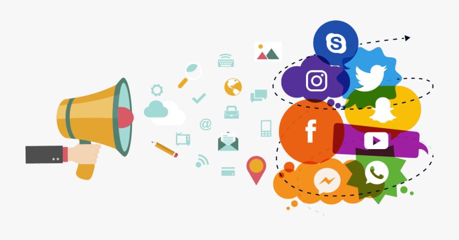 Marketing Clip Art For Print - Transparent Social Media Marketing, Transparent Clipart