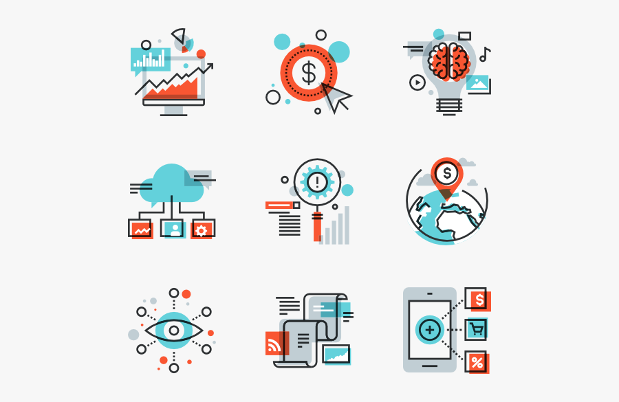 Marketing Digital Icon Png - Digital Marketing Icons Png, Transparent Clipart