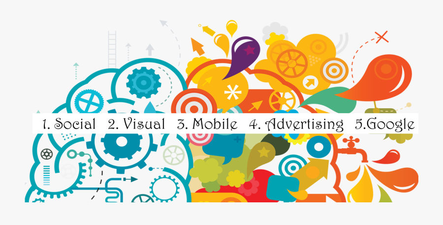 Social Media & Digital Marketing Trends For - Transparent Creative Clip Art, Transparent Clipart