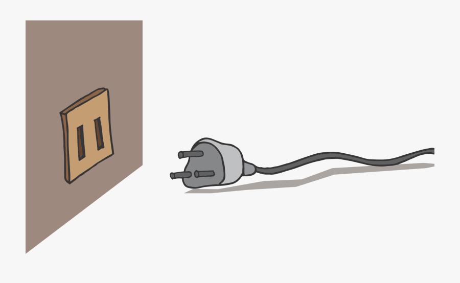 Transparent Electrical Plug Clipart - Cartoon Plug No Background, Transparent Clipart