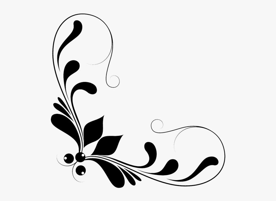 Transparent Border Vector Png - Floral Design Elements Png, Transparent Clipart