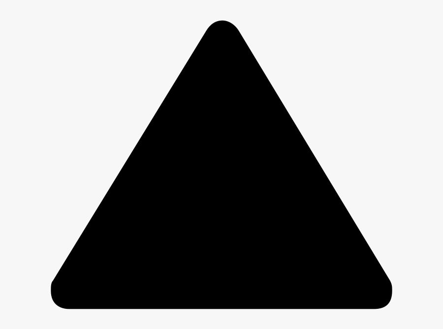 Triangular Clipart Shape Person - Black Triangle Transparent, Transparent Clipart