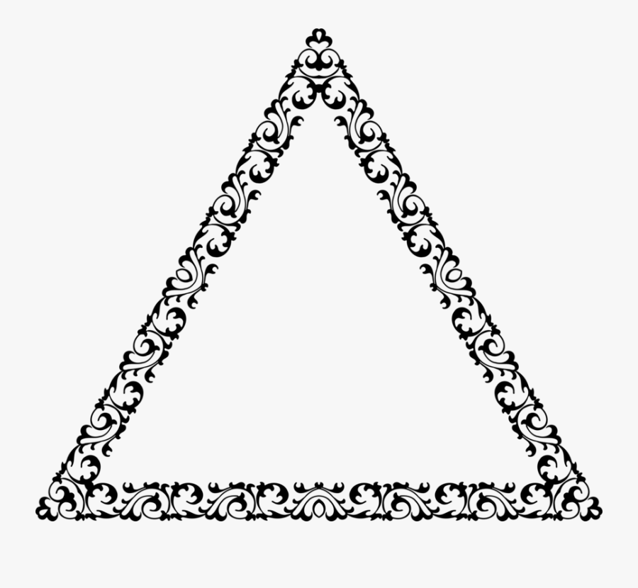 Triangle,symmetry,angle - Decorative Triangle, Transparent Clipart