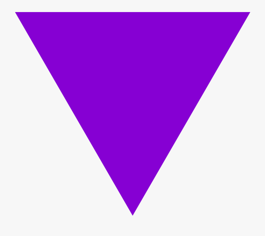 File Purple Triangle Svg - Purple Triangle, Transparent Clipart