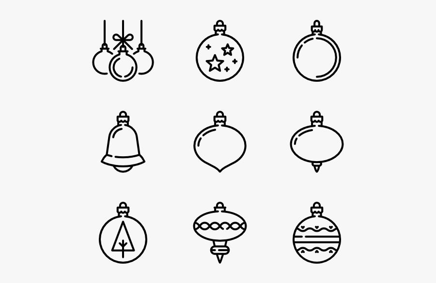 Clip Art Icons Free Christmas Balls - Christmas Ball Balls Easy To Draw, Transparent Clipart
