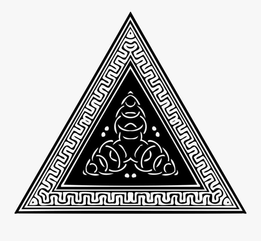 Triangle,area,monochrome Photography - Triangle Ornament, Transparent Clipart