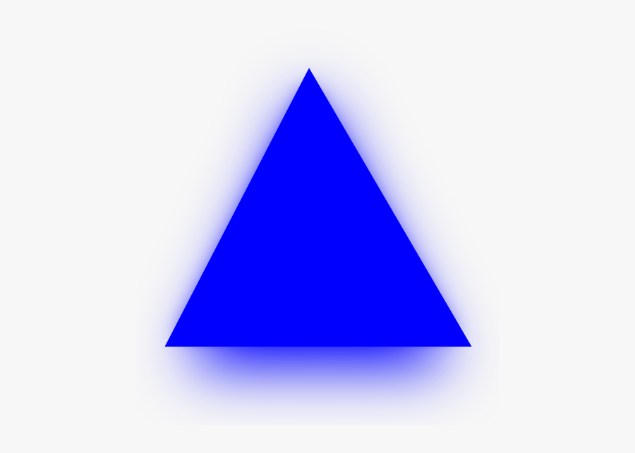 Blue Triangle Clip Art At Clker - Triangle, Transparent Clipart