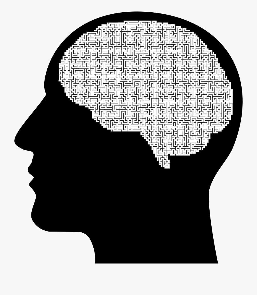 Human Behavior,head,silhouette - Silhouette Brain Transparent Png, Transparent Clipart