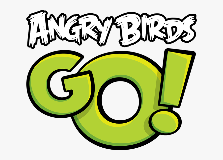 Go Png Clipart - Angry Birds Go Title, Transparent Clipart