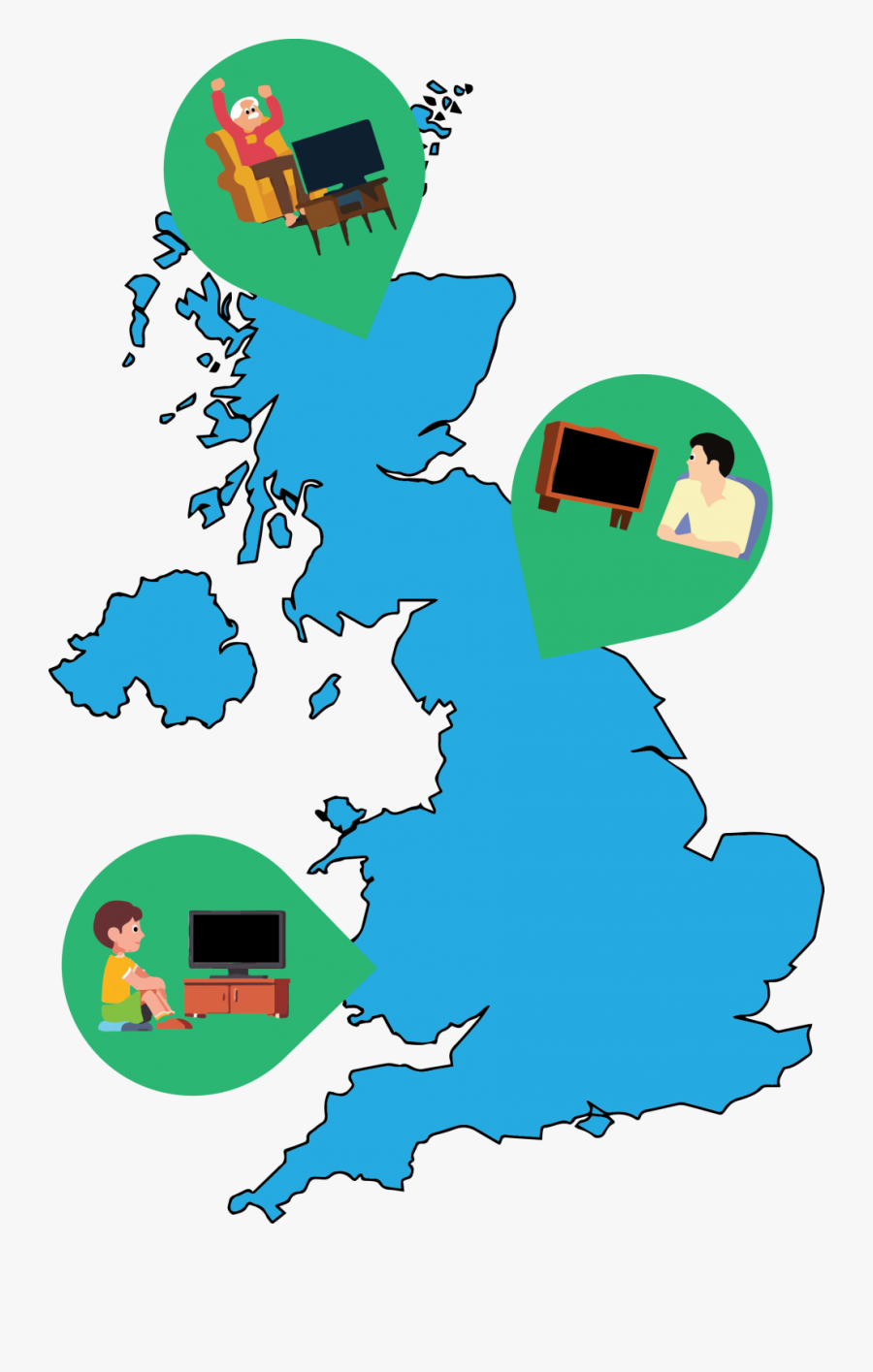 In The Uk, 70 Percent Of The Population Admit To Watching - Lyme Disease Risk Map Uk, Transparent Clipart