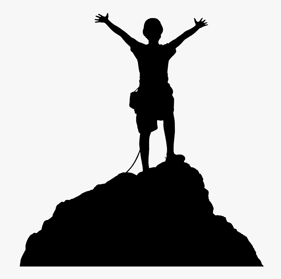 Transparent Hiker Png - Clip Art Mountain Climbing, Transparent Clipart