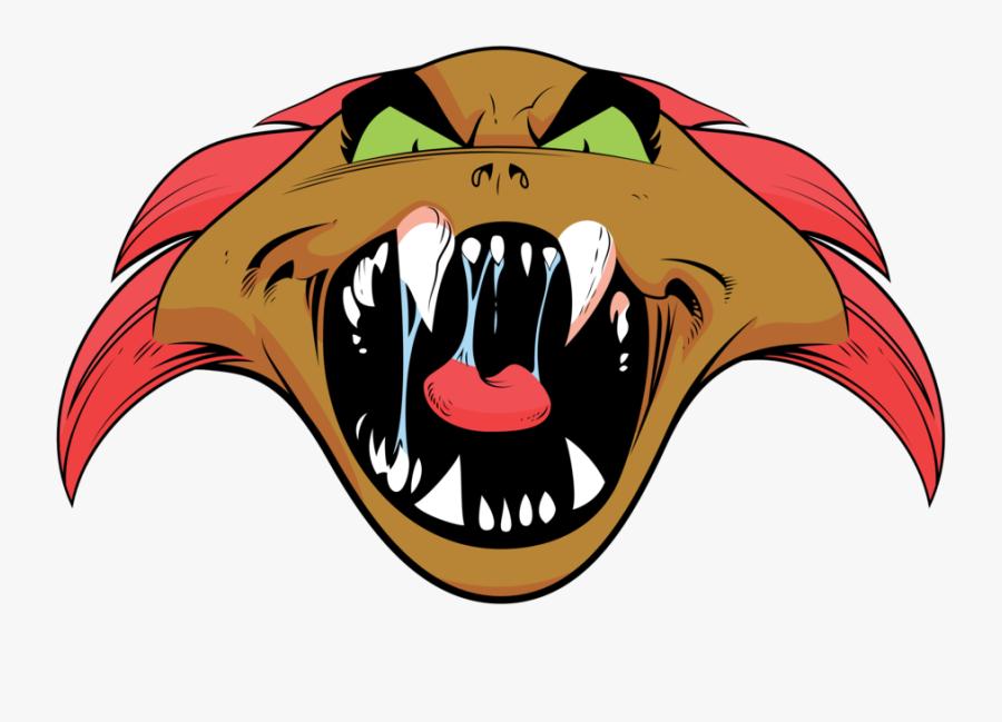 Scarey Clip Scary Tooth Clip Art Transparent Stock - Cartoon, Transparent Clipart