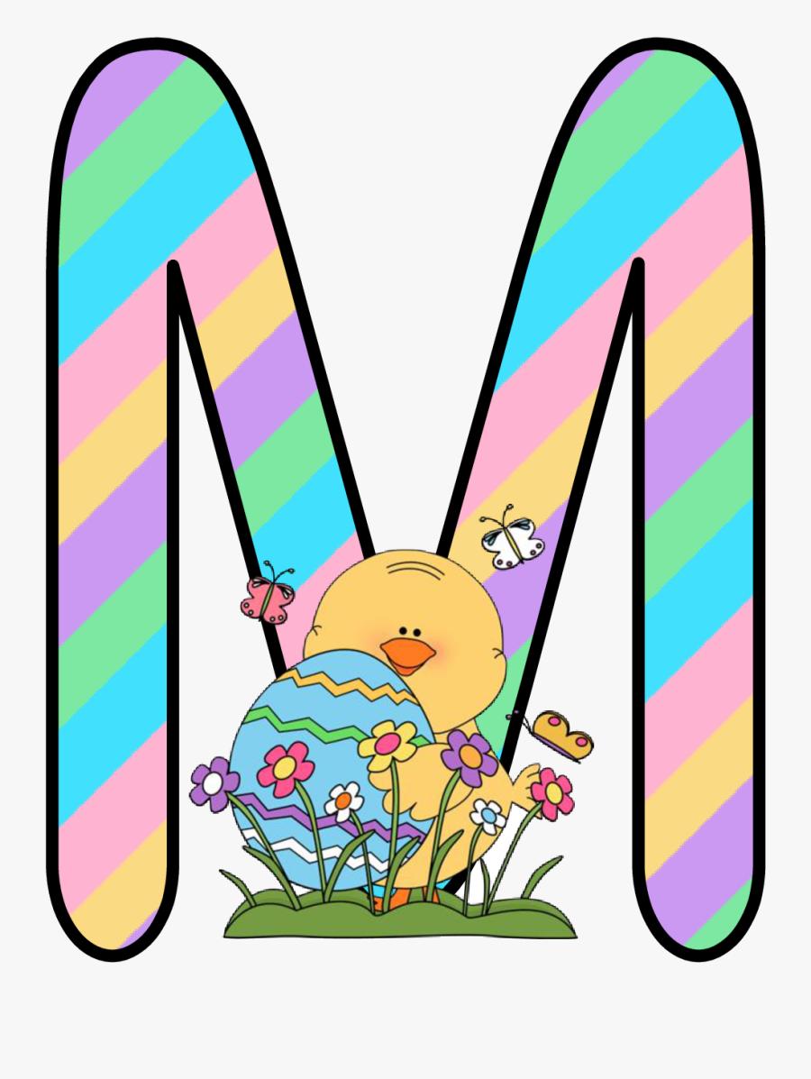 Holidays Cliparts Png Bubble Letter - Letter D Alfabeto Easter De Kid, Transparent Clipart