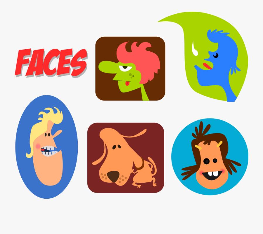 Faces Svg Clip Arts - Lidé Obrázky Kreslené, Transparent Clipart
