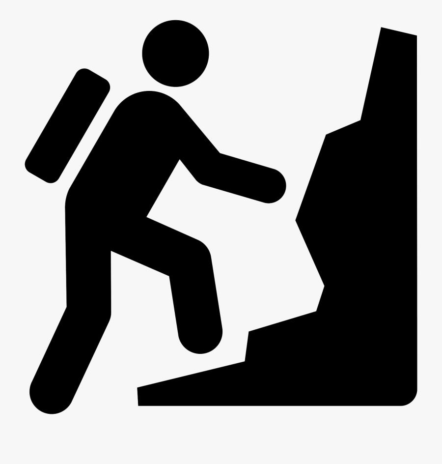 Mountain Climbing Icon Free, Transparent Clipart
