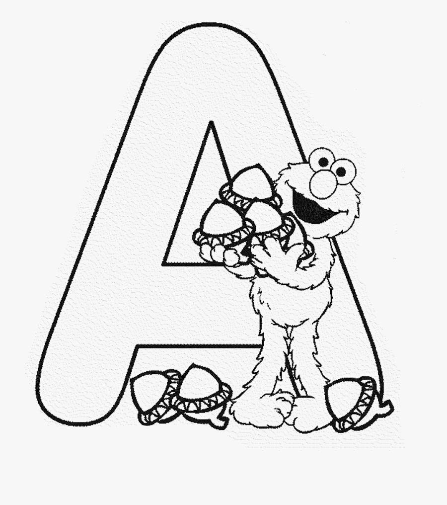 Clip Art Be Creative With Pages - Sesame Street Coloring Letter, Transparent Clipart