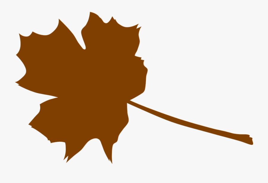 Foliage Clipart Brown Leaf - Brown Maple Leaf Clipart, Transparent Clipart
