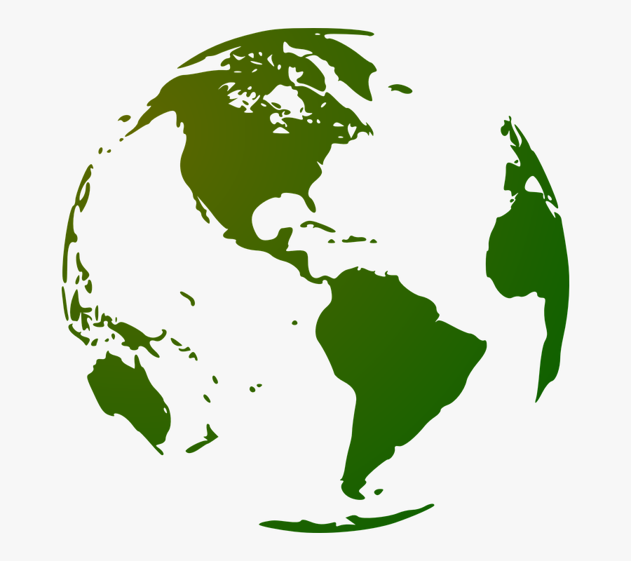 Globe Earth Continents Planet Blue Planet World - Globe Png, Transparent Clipart