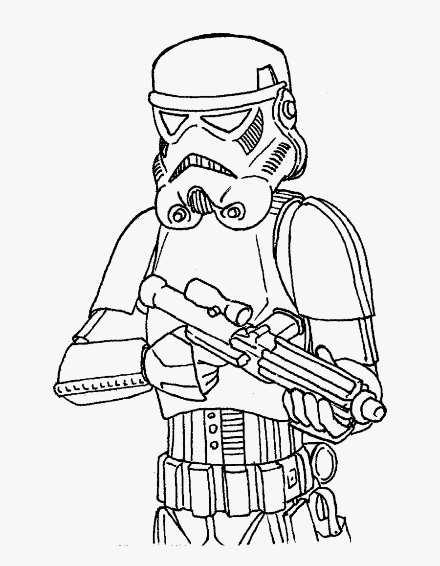 Stormtrooper Coloring Page - Storm Trooper Printable Star Wars, Transparent Clipart