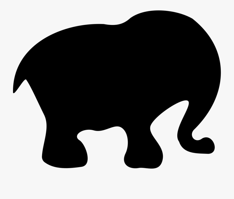 Cartoon Elephant Silhouette - Elephant Silhouette, Transparent Clipart