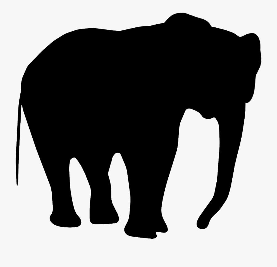 Elephant Silhouette Clip Art Of Transparent Png - Cut Out Silhouettes Animals, Transparent Clipart