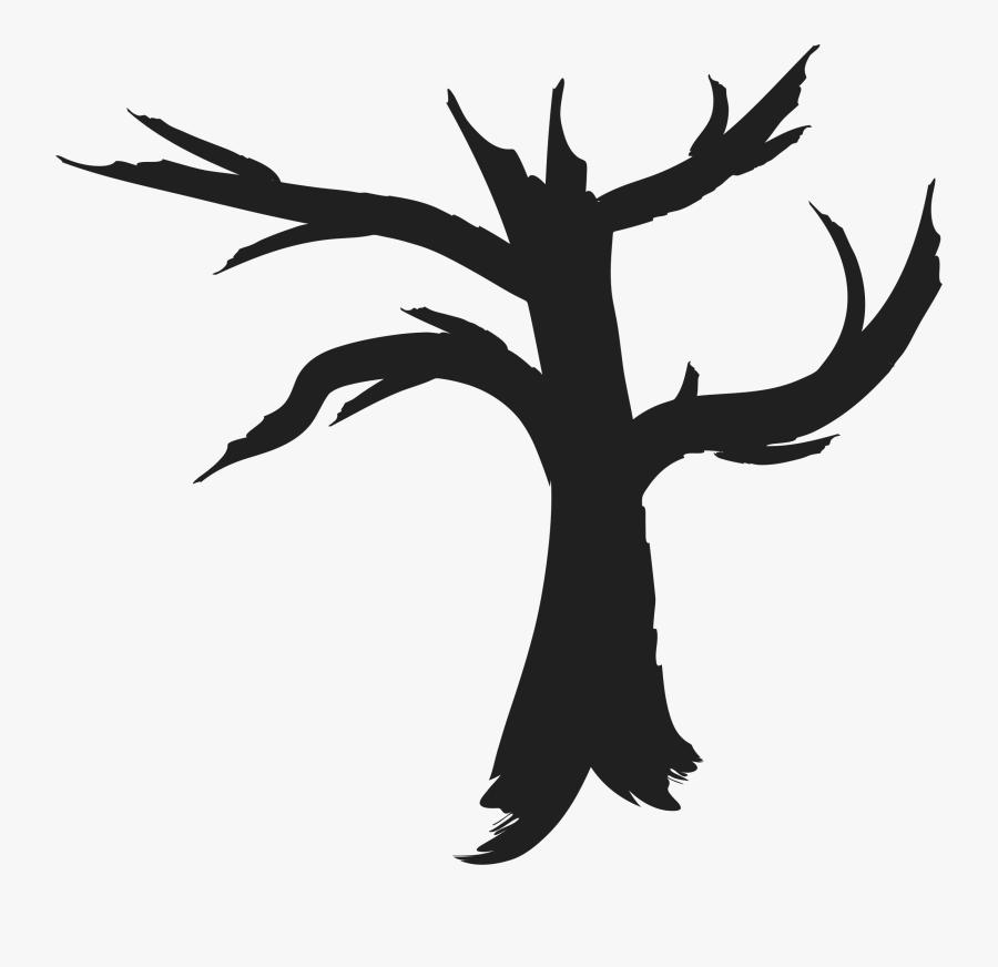 Clipart Dead Tree Silhouette - Clipart Bare Silhouette Tree, Transparent Clipart
