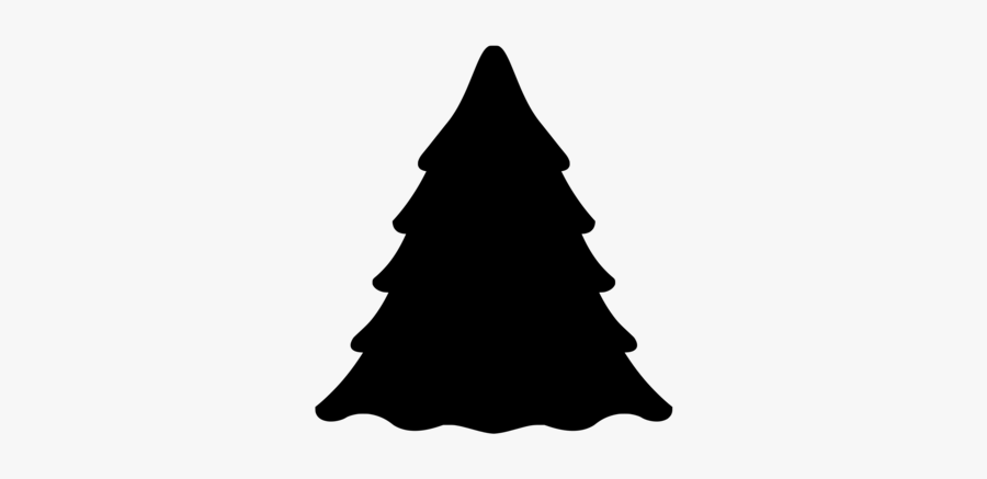 Evergreen Tree Silhouette Clipart, Transparent Clipart