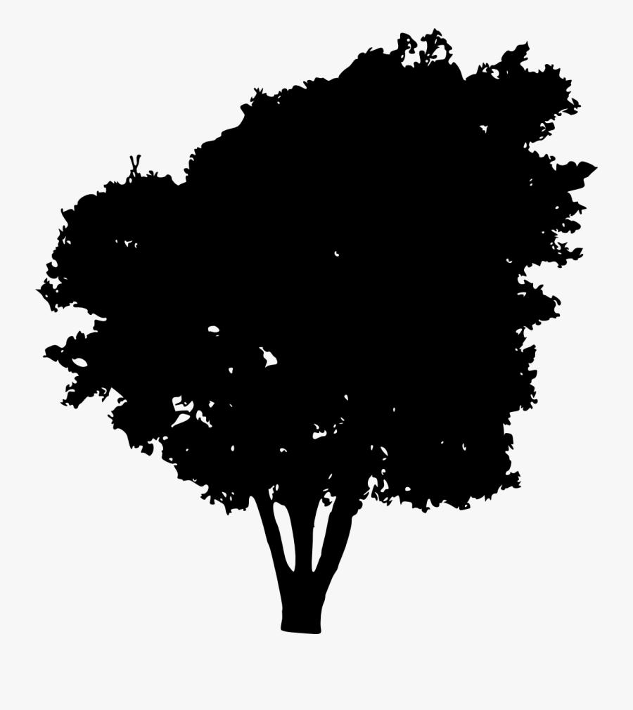 Tree Silhouette Clip Art - Bush Silhouette Free, Transparent Clipart