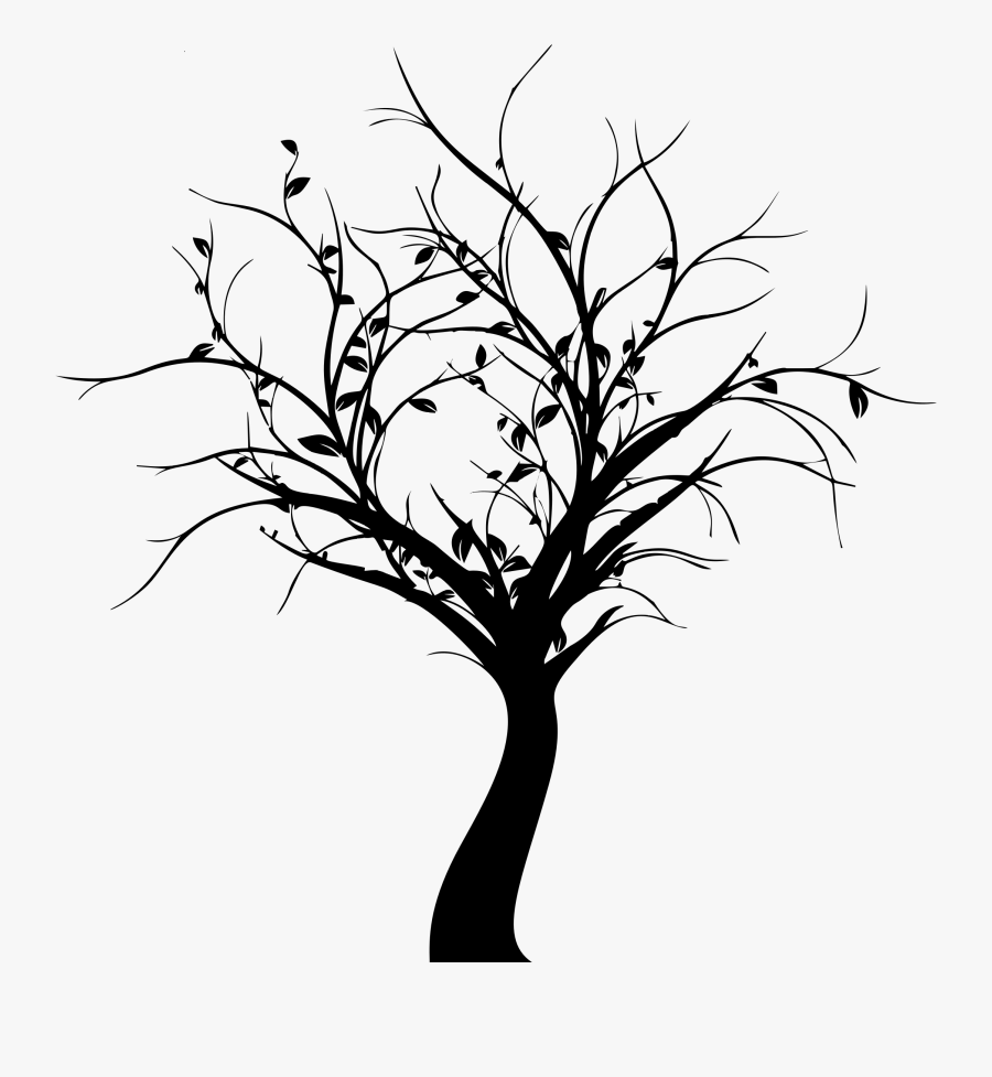 Delicate Tree Silhouette Icons Png - Tree Silhouette Png, Transparent Clipart