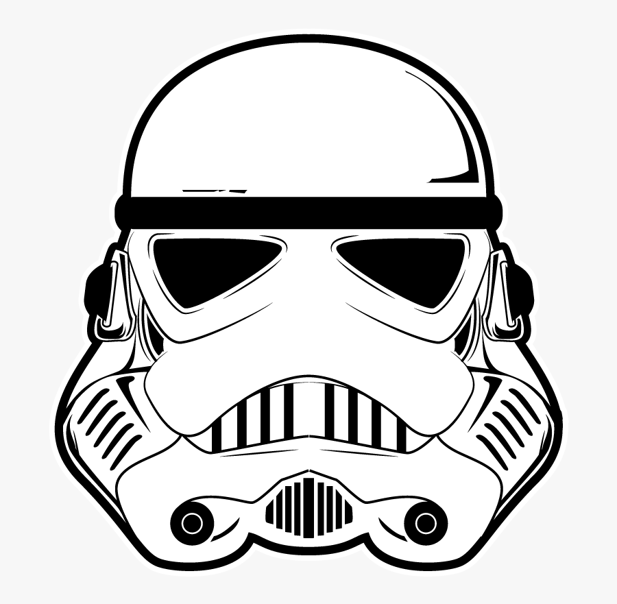 Transparent Stormtrooper Clipart - Star Wars Line Art, Transparent Clipart