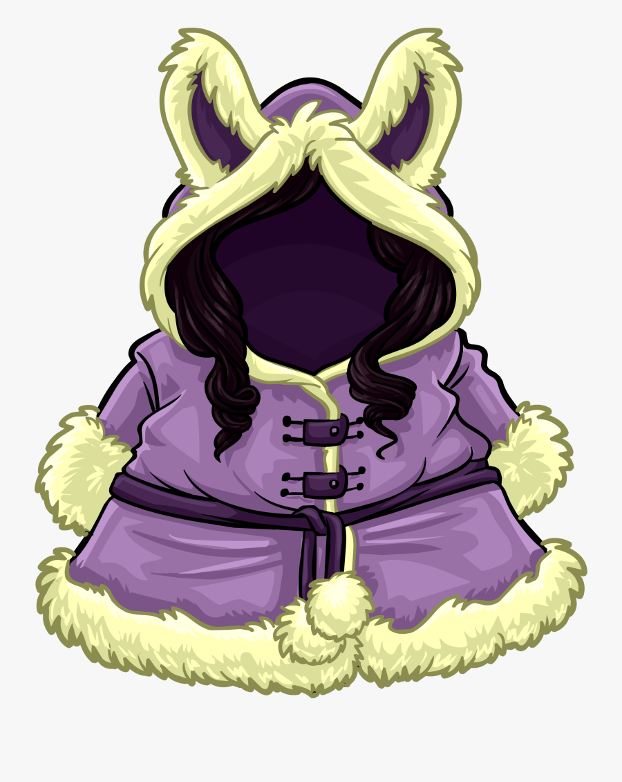 Cozy Winter Coat Club Penguin Rewritten Wiki - Club Penguin Purple Coat, Transparent Clipart