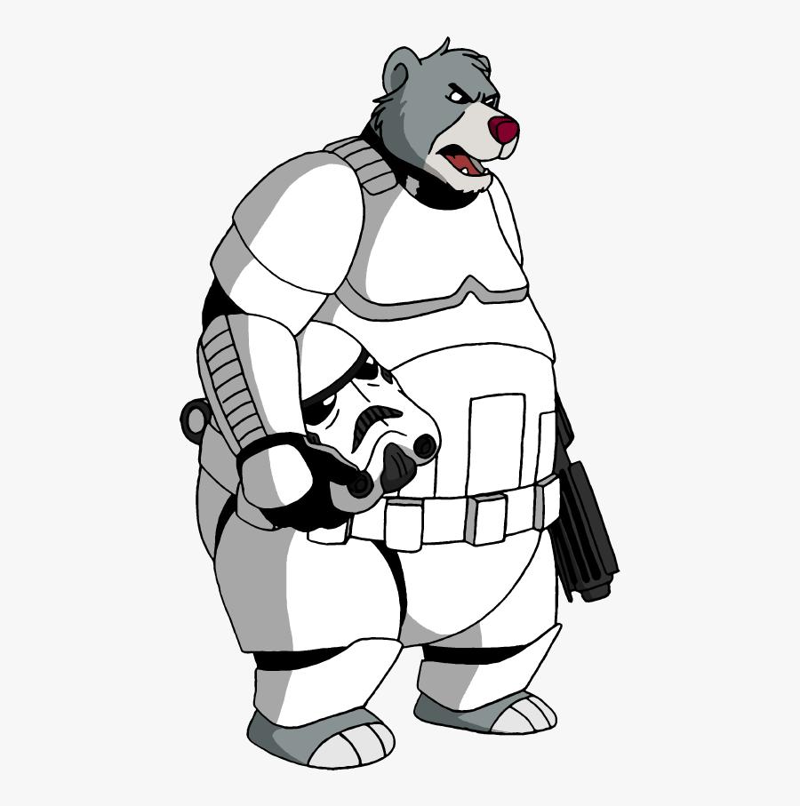 Stormtrooper Line Drawing - Baloo Storm Trooper, Transparent Clipart