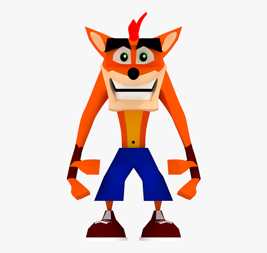 Polygon Cartoon Character Clipart - Crash Bandicoot First Design, Transparent Clipart