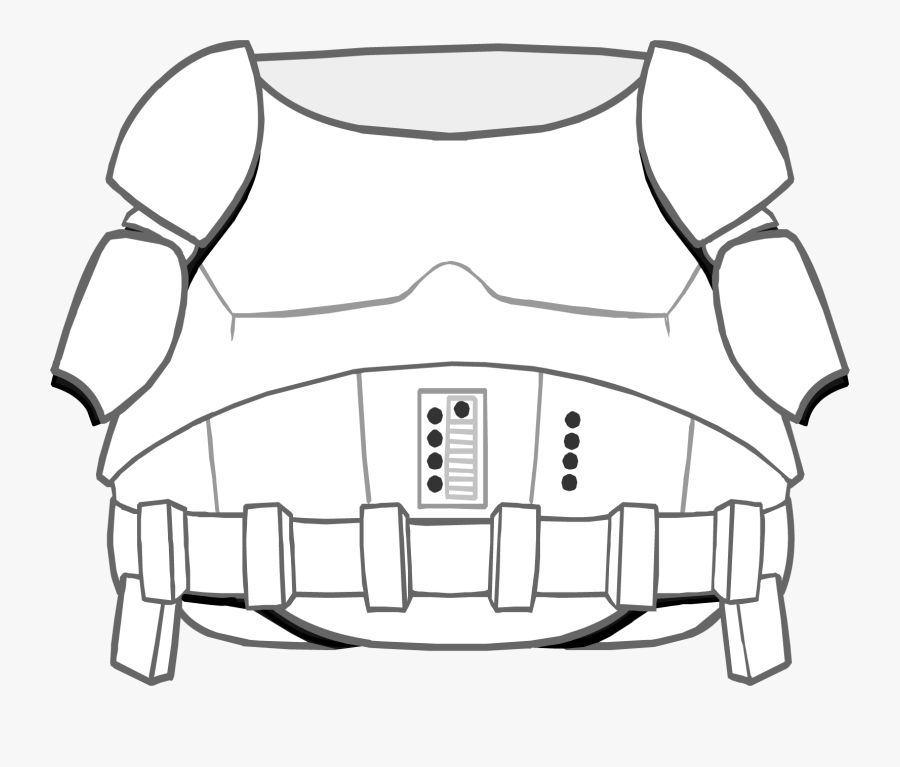 Clothing Icons - Storm Trooper Armour Template, Transparent Clipart