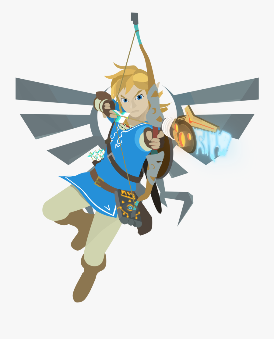 Character,clip Art,animation,style,art - Zelda Breath Of The Wild Link Art, Transparent Clipart