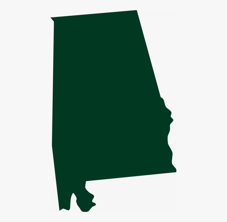Alabama - Clipart - Alabama State Shape Transparent, Transparent Clipart
