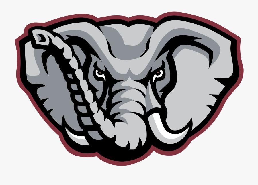 Alabama Crimson Tide Football University Of Alabama - Alabama Crimson Tide Elephant, Transparent Clipart