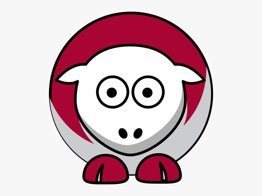 Alabama Crimson Tide Sheep, Transparent Clipart