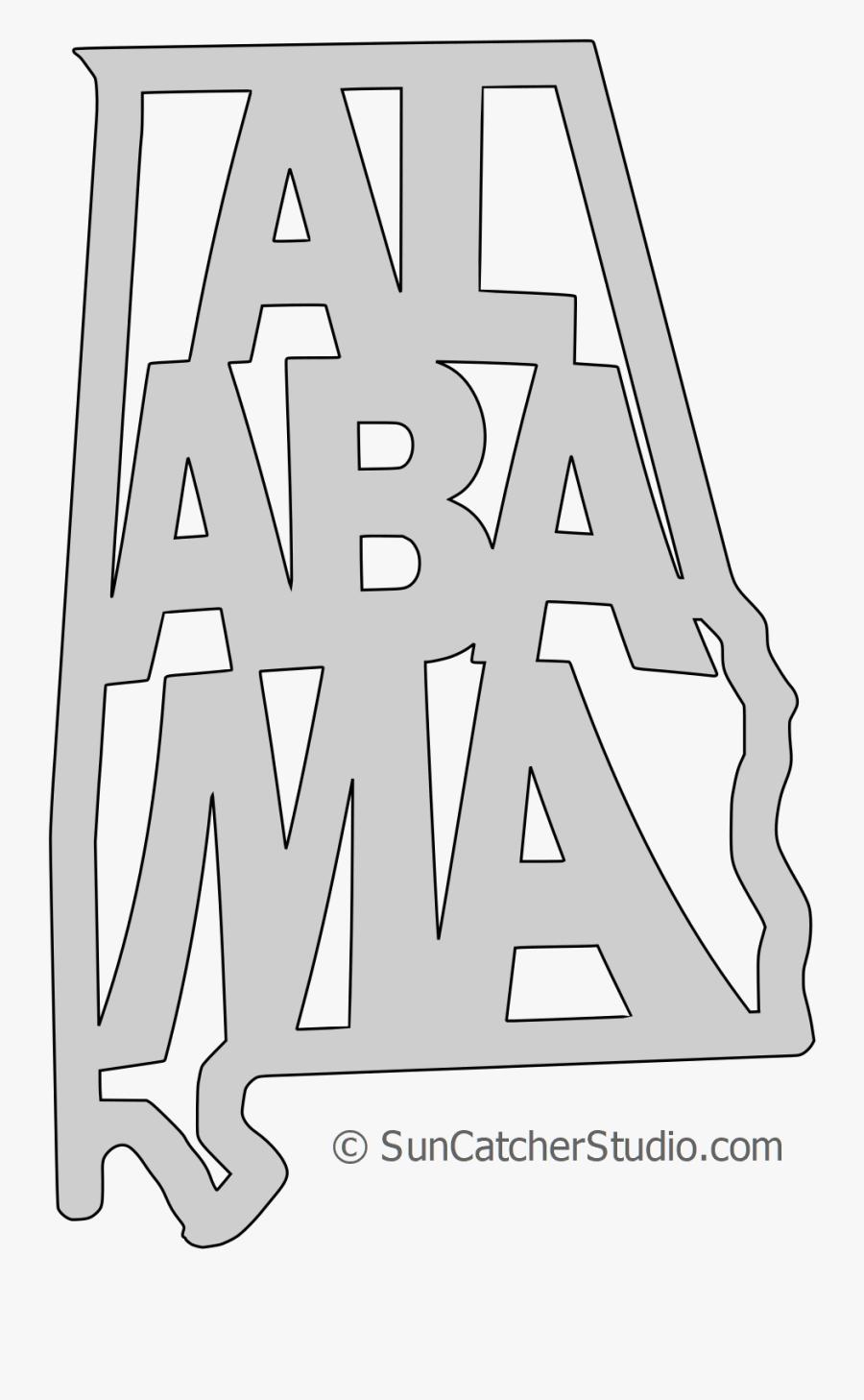 Transparent State Alabama Outline, Transparent Clipart