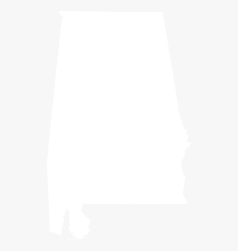 State Of Alabama Outline - Alabama Crimson Tide Map, Transparent Clipart