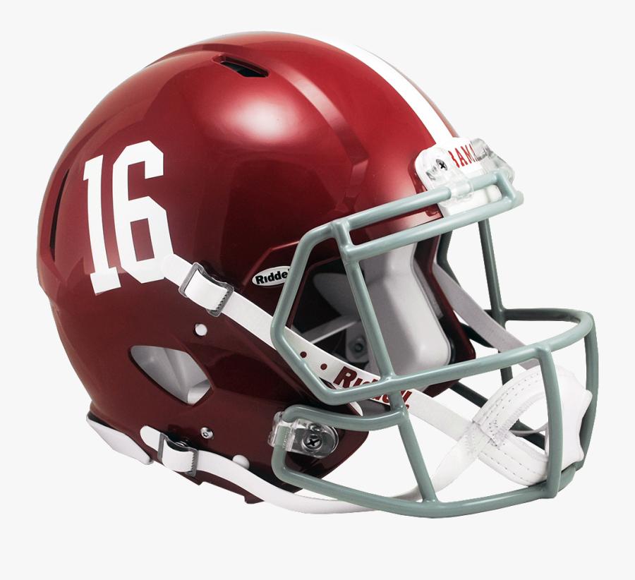 Football Clipart Alabama - Alabama Crimson Tide Helmet, Transparent Clipart