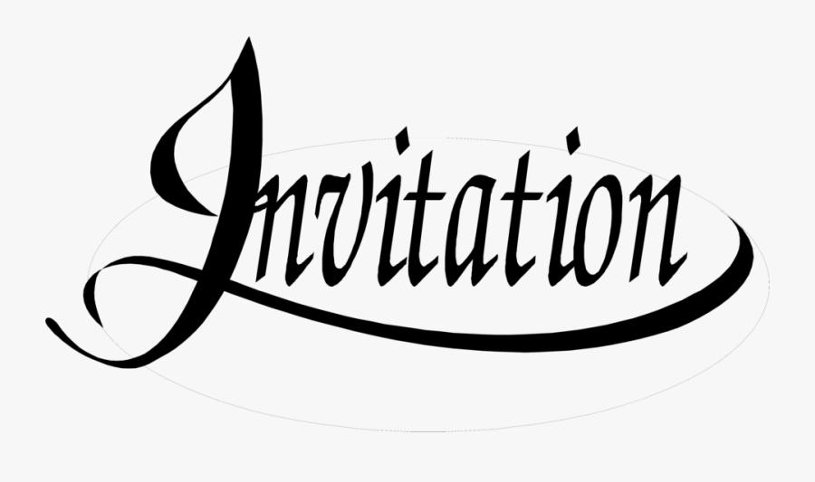 Transparent Wedding Art Png - Transparent Invitation Png, Transparent Clipart