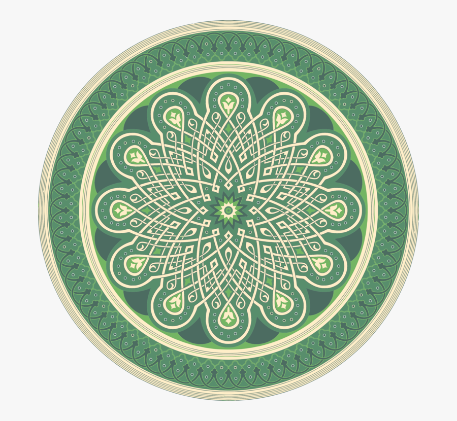 Circle,green,islamic Designs - Islamic Geometric Patterns Png, Transparent Clipart