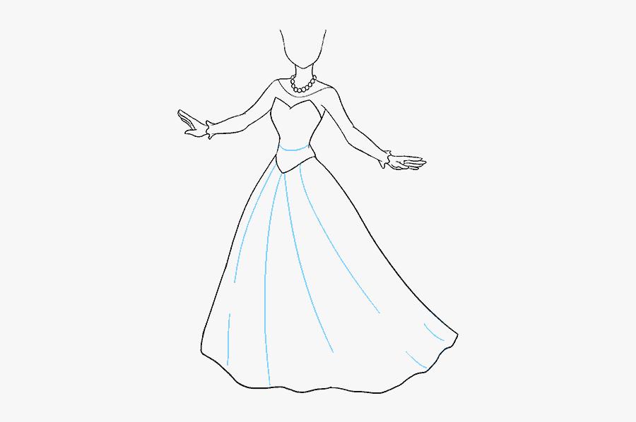 How To Draw Cartoon Princess - Easy How To Draw A Princess, Transparent Clipart