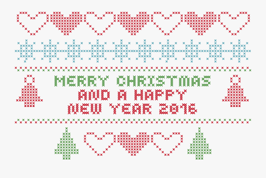 Merry Christmas Crochet Typography - Christmas Day, Transparent Clipart