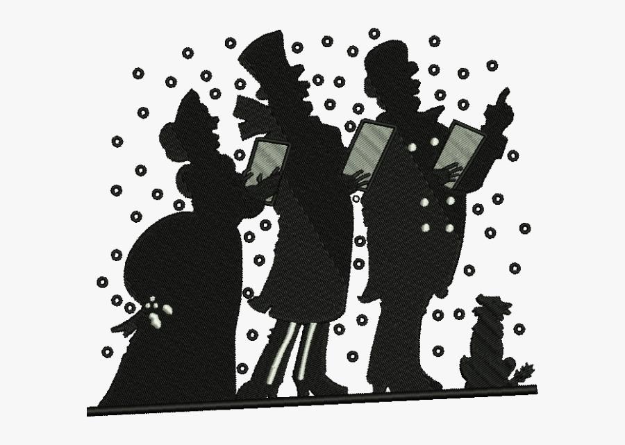 Christmas Carol Christmas Day Silhouette Christmas - White Christmas Clip Art, Transparent Clipart